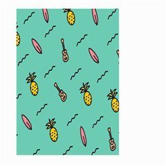 Guitar Pineapple Large Garden Flag (two Sides) by Alisyart