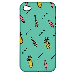Guitar Pineapple Apple Iphone 4/4s Hardshell Case (pc+silicone) by Alisyart