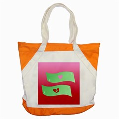 Money Green Pink Red Broken Heart Dollar Sign Accent Tote Bag by Alisyart
