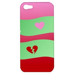 Money Green Pink Red Broken Heart Dollar Sign Apple Iphone 5 Hardshell Case by Alisyart