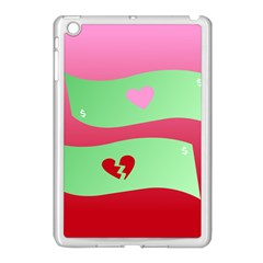 Money Green Pink Red Broken Heart Dollar Sign Apple Ipad Mini Case (white) by Alisyart
