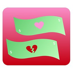 Money Green Pink Red Broken Heart Dollar Sign Double Sided Flano Blanket (small)  by Alisyart