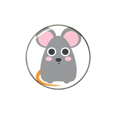 Mouse Grey Face Hat Clip Ball Marker by Alisyart