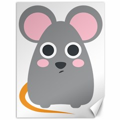 Mouse Grey Face Canvas 36  X 48   by Alisyart
