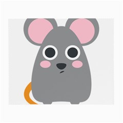 Mouse Grey Face Small Glasses Cloth (2 Side) by Alisyart