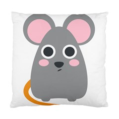 Mouse Grey Face Standard Cushion Case (two Sides) by Alisyart
