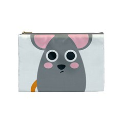Mouse Grey Face Cosmetic Bag (medium)  by Alisyart