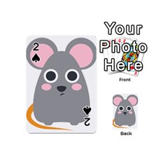 Mouse Grey Face Playing Cards 54 (mini)  by Alisyart