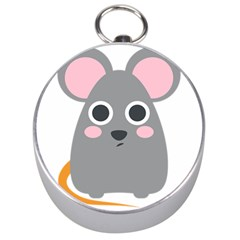 Mouse Grey Face Silver Compasses by Alisyart