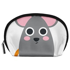 Mouse Grey Face Accessory Pouches (large)  by Alisyart