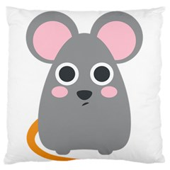 Mouse Grey Face Standard Flano Cushion Case (two Sides) by Alisyart