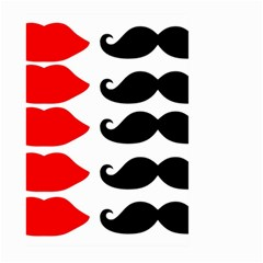 Mustache Black Red Lips Large Garden Flag (two Sides) by Alisyart