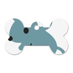 Mouse Dog Tag Bone (one Side) by Alisyart
