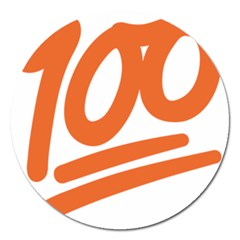 Number 100 Orange Magnet 5  (round) by Alisyart