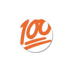 Number 100 Orange Golf Ball Marker (4 Pack) by Alisyart