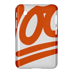 Number 100 Orange Samsung Galaxy Tab 2 (7 ) P3100 Hardshell Case  by Alisyart