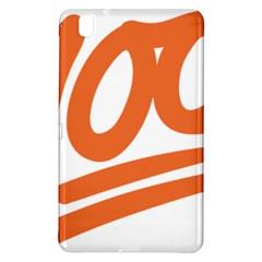 Number 100 Orange Samsung Galaxy Tab Pro 8 4 Hardshell Case by Alisyart