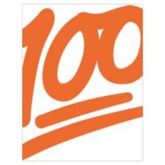Number 100 Orange Drawstring Bag (large) by Alisyart