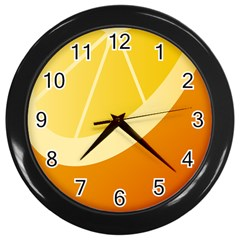 Orange Lime Yellow Fruit Fress Wall Clocks (black) by Alisyart