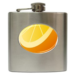 Orange Lime Yellow Fruit Fress Hip Flask (6 Oz) by Alisyart