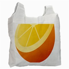 Orange Lime Yellow Fruit Fress Recycle Bag (one Side) by Alisyart