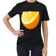 Orange Lime Yellow Fruit Fress Women s T Shirt (black) by Alisyart