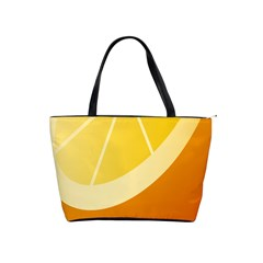Orange Lime Yellow Fruit Fress Shoulder Handbags by Alisyart