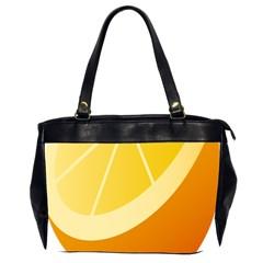 Orange Lime Yellow Fruit Fress Office Handbags (2 Sides)  by Alisyart