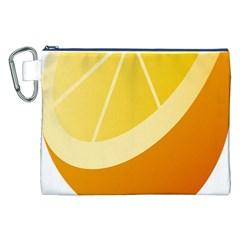 Orange Lime Yellow Fruit Fress Canvas Cosmetic Bag (xxl) by Alisyart