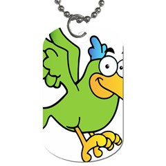 Parrot Cartoon Character Flying Dog Tag (two Sides) by Alisyart
