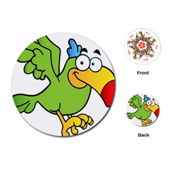 Parrot Cartoon Character Flying Playing Cards (round)  by Alisyart