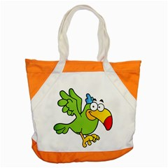 Parrot Cartoon Character Flying Accent Tote Bag by Alisyart