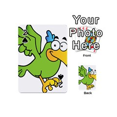 Parrot Cartoon Character Flying Playing Cards 54 (mini)  by Alisyart