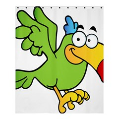 Parrot Cartoon Character Flying Shower Curtain 60  X 72  (medium)  by Alisyart