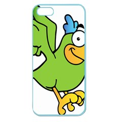 Parrot Cartoon Character Flying Apple Seamless Iphone 5 Case (color) by Alisyart