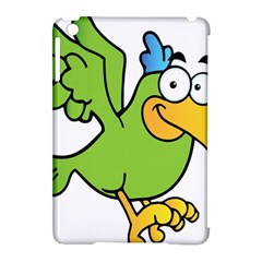 Parrot Cartoon Character Flying Apple Ipad Mini Hardshell Case (compatible With Smart Cover) by Alisyart