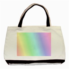 Multi Color Pastel Background Basic Tote Bag by Simbadda