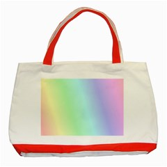 Multi Color Pastel Background Classic Tote Bag (red) by Simbadda