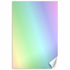 Multi Color Pastel Background Canvas 24  X 36  by Simbadda