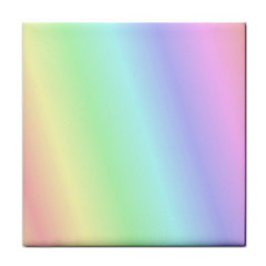 Multi Color Pastel Background Face Towel by Simbadda