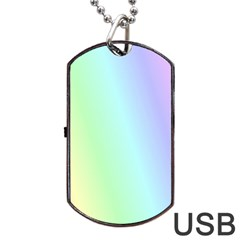 Multi Color Pastel Background Dog Tag Usb Flash (two Sides) by Simbadda