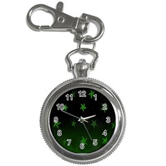 Nautical Star Green Space Light Key Chain Watches by Alisyart