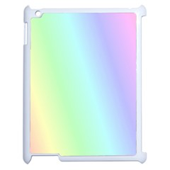 Multi Color Pastel Background Apple Ipad 2 Case (white) by Simbadda