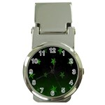 Nautical Star Green Space Light Money Clip Watches Front