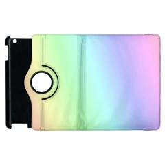 Multi Color Pastel Background Apple Ipad 2 Flip 360 Case by Simbadda