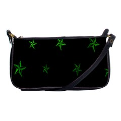 Nautical Star Green Space Light Shoulder Clutch Bags by Alisyart