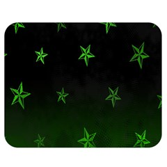Nautical Star Green Space Light Double Sided Flano Blanket (medium)  by Alisyart