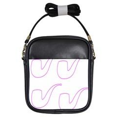 Pipe Template Cigarette Holder Pink Girls Sling Bags by Alisyart