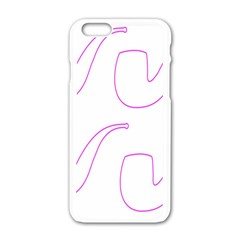 Pipe Template Cigarette Holder Pink Apple Iphone 6/6s White Enamel Case by Alisyart