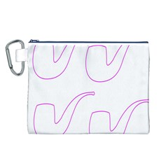 Pipe Template Cigarette Holder Pink Canvas Cosmetic Bag (l) by Alisyart